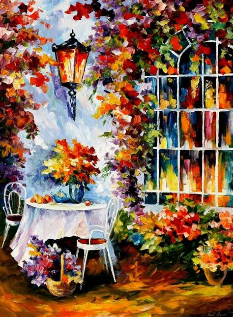 In The Garden — Palette Knife Oil Painting On Canvas By