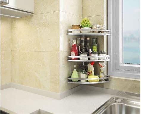 countertop  tier kitchen storage racks spice jars bottle shelf holder rack