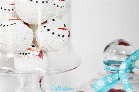 snowman balls out of styrofoam debbiedoos
