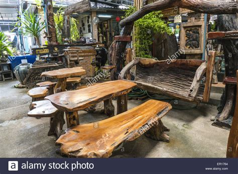 Buy Thai Wood Carving Wall Art Panel Asian Home Decor Online: Rustic Wooden Furniture, Thailand Stock Photo: 83006172