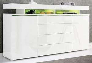 Kommoden Weiß Hochglanz Günstig : sideboard breite 166 cm online kaufen otto ~ Bigdaddyawards.com Haus und Dekorationen