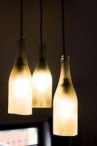 Lampe Dimmbar Machen : lampe aus sektflaschen anleitung zum nachbauen lampen selber machen pinterest lampen ~ Markanthonyermac.com Haus und Dekorationen