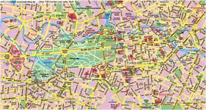 Central Berlin Street Map - Berlin Germany • mappery