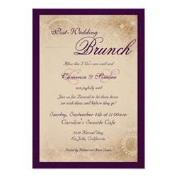 post wedding brunch invitations post wedding brunch script purple 3 5 quot x 5 quot invitation card zazzle