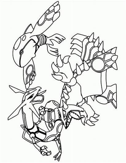 Pokemon Coloring Pages Legendary Rayquaza