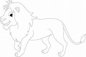 Free coloring pages of cartoon lion