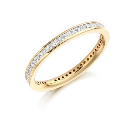 slim princess cut channel set diamond ring fet