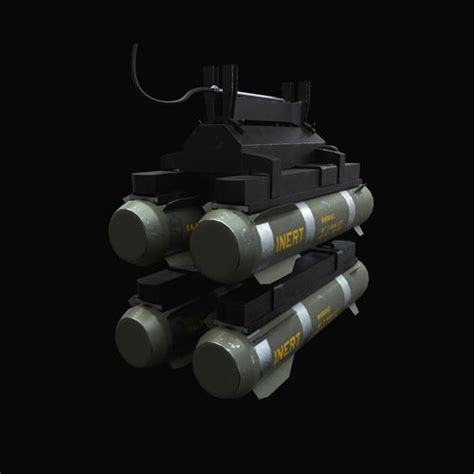 Hellfire Missiles With Marines Textures 3d Model Obj Fbx