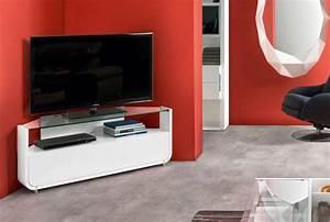 Meuble Tv D Angle Blanc : meuble tv angle meubles tv meubles gautier ~ Teatrodelosmanantiales.com Idées de Décoration