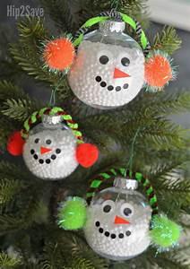 Diy, Simple, Snowman, Christmas, Ornament