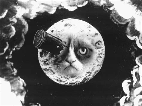 george melies science fiction a trip to the moon by martin s via facebook cats