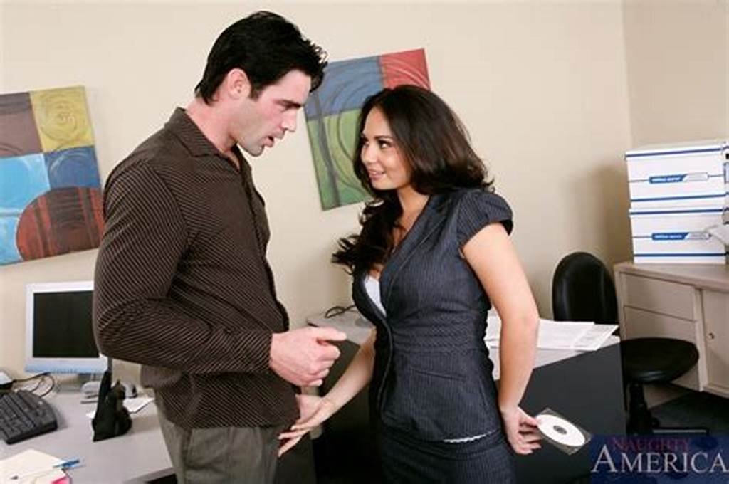 #Foxy #Brunette #Secretary #Gets #Seduced #By #Her #Handsome #Boss