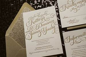 kathryn suite glitter package gold wedding invitations With inexpensive glitter wedding invitations