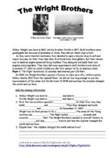 wright brothers worksheets worksheet the wright brothers