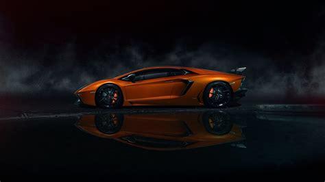 Wallpaper Lamborghini Aventador Lp700-4 Orange Supercar