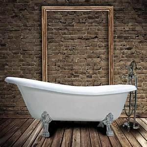 Baignoire Avec Pied : baignoire ancienne en fonte livingston blanche le monde ~ Edinachiropracticcenter.com Idées de Décoration