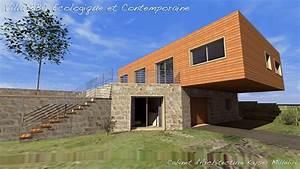 maison moderne pierre et bois With maison bois et pierre