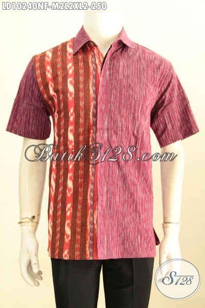 Baju Daleman model baju batik tenun pria terkini hem batik mewah