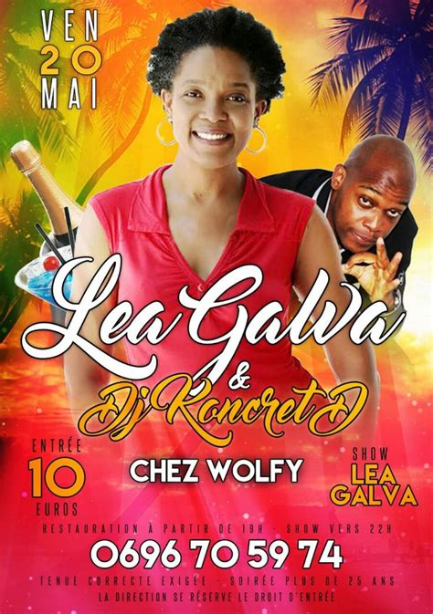 Lea Galva & DJ Roncret Chez Wolfy | Dj, Galva, Lea