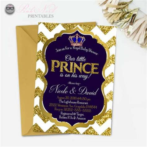 royal prince baby shower invitation royal prince baby shower invitation printable royal baby shower royal blue white and gold by