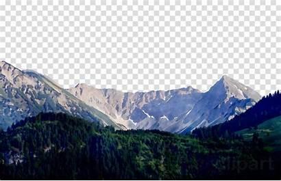 Mountain Hill Landform Clipart Highland Transparent Range