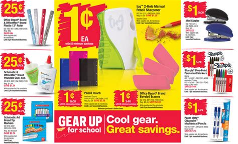 Office Depot Coupons July 2015 by Office Depot Office Max Back To School Deals For The Week