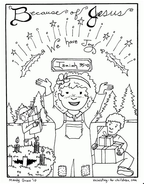Printable Advent Coloring Pages