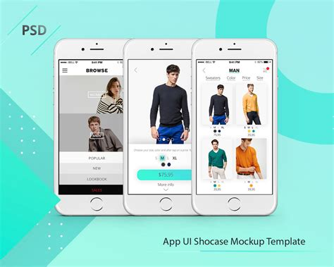 app template psd app showcase mockup template free psd psd