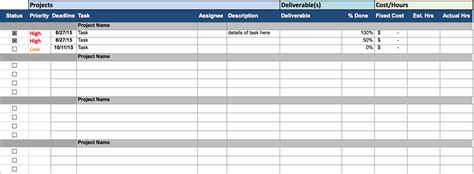 managing projects template project schedule template tryprodermagenix org