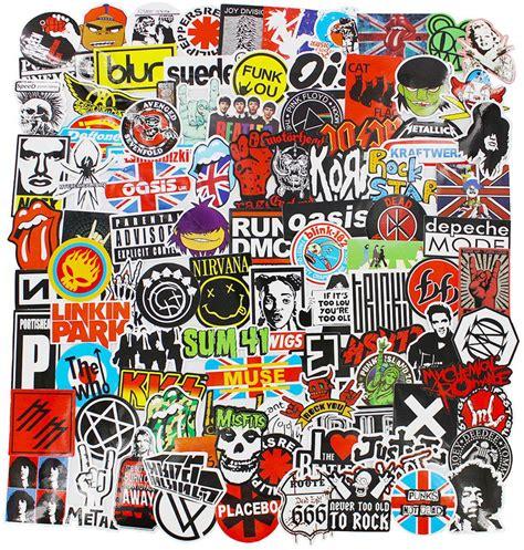 rock band logo stickers decal lot vinyl heavy