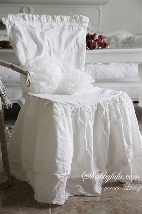 shabbyfufu chair covers slipcovers white cotton and on