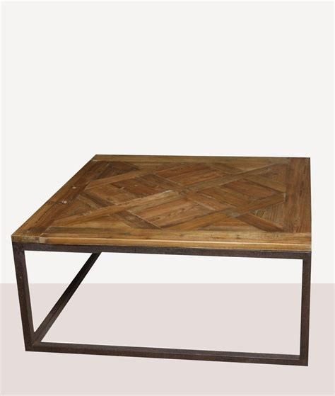 Parquet 46 square reclaimed wood coffee table. Parquet Reclaimed Wood Square Coffee Table in 2020   Coffee table square, Wood square, Coffee table