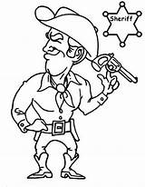 Coloring Sheriff Cowboy Pages Printable Button Using Into Getcolorings Grab Feel Could Right Template sketch template
