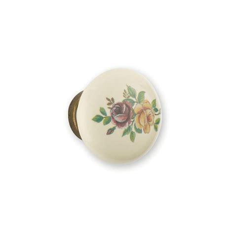 bouton porcelaine et m 233 tal fleur