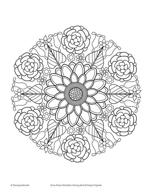flower coloring books mandala flower flowers ideas for review