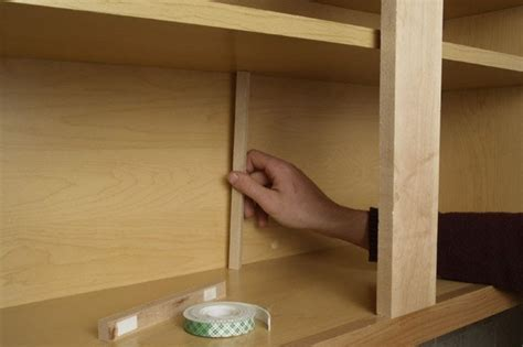 kitchen cabinet shelf supports how to