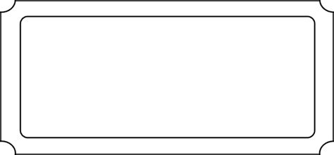 blank ticket template ticket blank large clip at clker vector clip royalty free domain