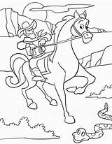 Cowboy Coloring Pages Printable Coloring2print sketch template