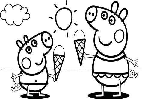 Peppa Pig Family Coloring Pages at GetDrawings Free download