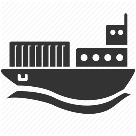 Barge Boat Icon by Abroad Barges Freighter Logistic Overseas Ship