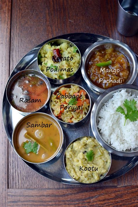 tamil cuisine recipes simple vegetarian tamil nadu thali recipe cookshideout