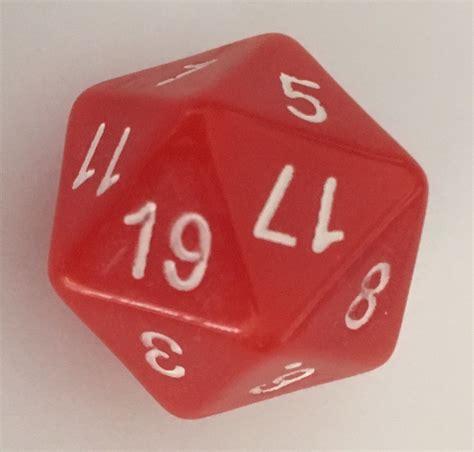 magic numbered icosahedral dice single  fair  tarquin group
