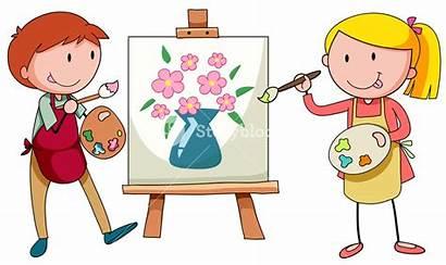 Artist Painting Painter Clipart Artists Canvas Paint