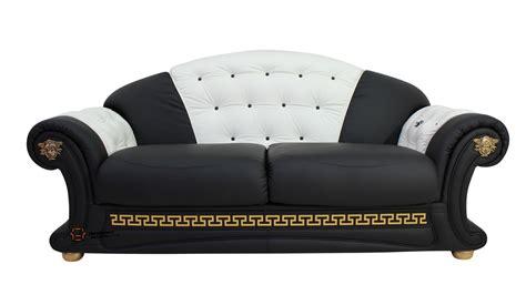 Settee Cleaner by Versace 3 Seater Sofa Settee Genuine Italian Black White