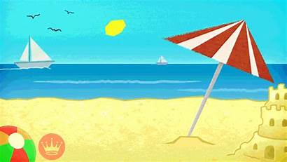 Summer Beach Animated Summertime Funny Happy Gifer