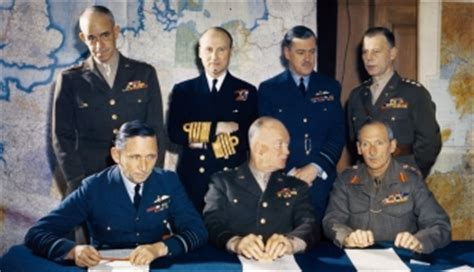 general eisenhower  staff allied military leaders