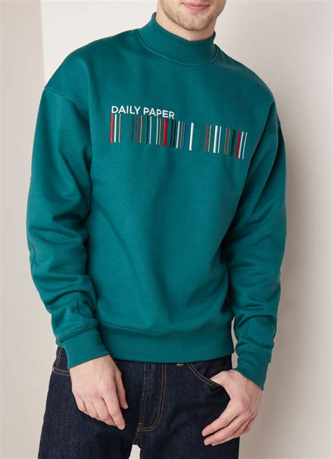 Daily Sweater daily paper coyar sweater met logoborduring de bijenkorf