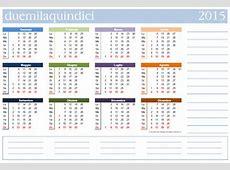 Calendari gratis da stampare con le festività italiane