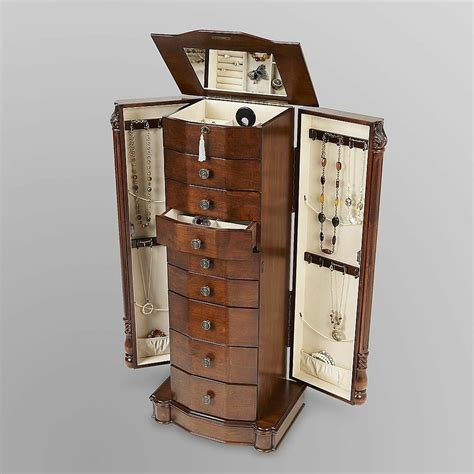 Jewelry Cabinet Armoire by Mirror Jewelry Armoire Ooks Jewelry Box Louis Cabinet