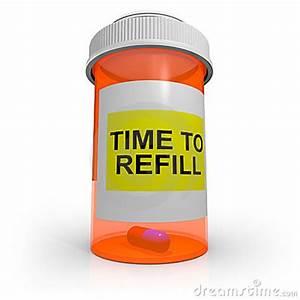Empty Prescription Bottle - Time To Refill Stock Photos ...